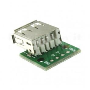 PCB DIP demoboard USB 2.0 di tipo A femmina