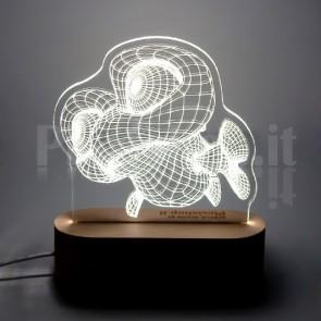 Lampada 3D Pesciolino Funny Bianca