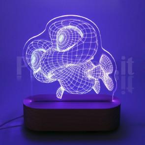 Lampada 3D Pesciolino Funny RGB