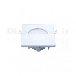 Pannello Faretto Led Quadrato 100 x 100 mm 6W Bianco - Bianco Freddo