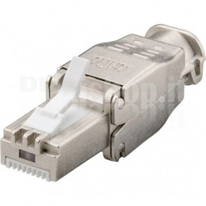 Plug Cat.6 RJ45 STP Tooless con Copriconnettore