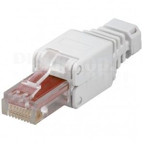 Plug Cat.6 RJ45 Tooless con Copriconnettore
