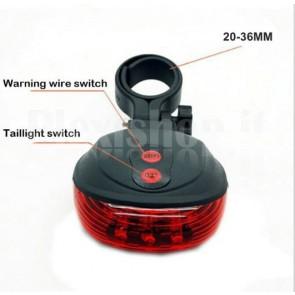 Posizione LED + Laser per bicicletta, rosso