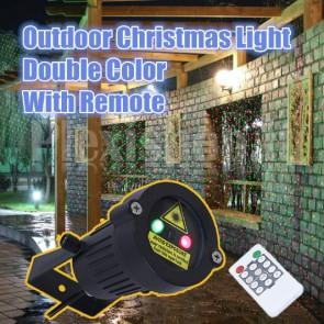 Proiettore Laser natalizio da esterno bicolore