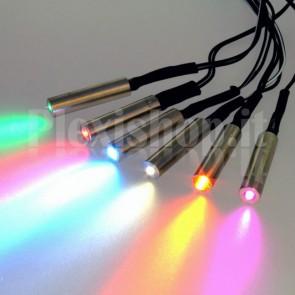 Proiettore 12V per fibra ottica Ø 4mm – 0.5W RGB