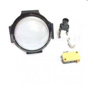 Pulsante a cupola luminoso con LED di colore bianco, 63mm 3A
