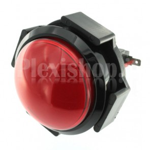 Pulsante a cupola luminoso con LED di colore rosso, 63mm 3A