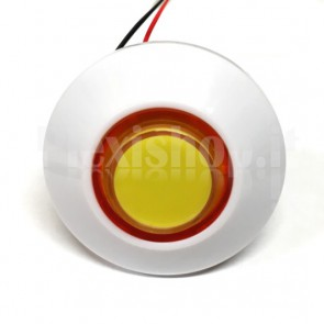 Pulsante a cupola luminoso con LED multicolore, 70mm 3A