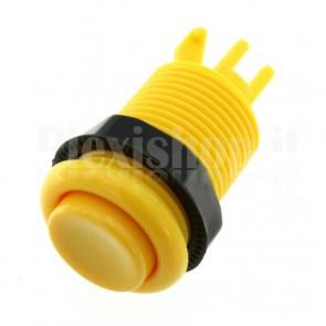 Pulsante tondo di colore giallo, 33mm 3A