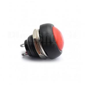 Pulsante da Pannello Rosso 12mm SPST OFF-(ON)