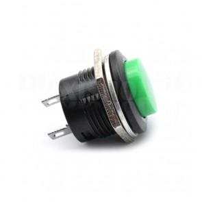 Pulsante da pannello verde 16mm SPST OFF-(ON)