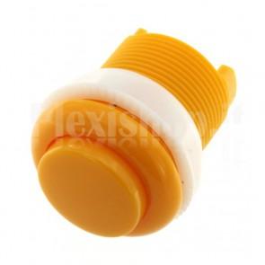 Pulsante tondo di colore giallo, 35mm 1A