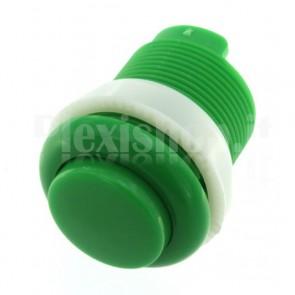 Pulsante tondo di colore verde, 35mm 1A