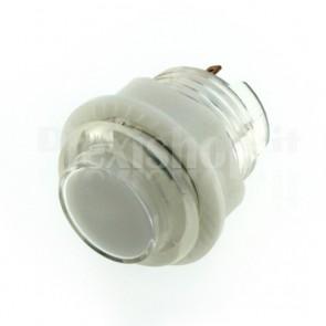 Pulsante tondo luminoso bianco, 28mm 12V 1A