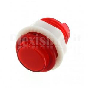 Pulsante tondo luminoso rosso, 28mm 12V 1A