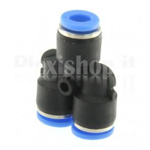 Raccordo ad innesto rapido tubo/tubo a Y diametro 6mm