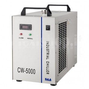 Refrigeratore ad acqua per laser da 100W, modello CW5000AG