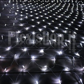 Rete luminosa 2x2 metri 144 Led - BIANCO