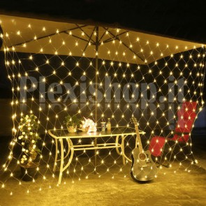 Rete luminosa 2x2 metri 144 Led - BIANCO CALDO