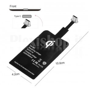 Ricevitore Ricarica Wireless per Smartphone Type-C USB