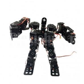 Robot bipede con 17 DOF e arti meccanici, senza servomotori