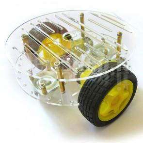 Robot Car 2WD in acrilico trasparente