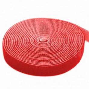 Rotolo di Velcro Fermacavi Lunghezza 4m Larghezza 16mm Rosso