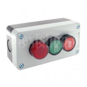 Scatola comando - due pulsanti e spia NO+NC