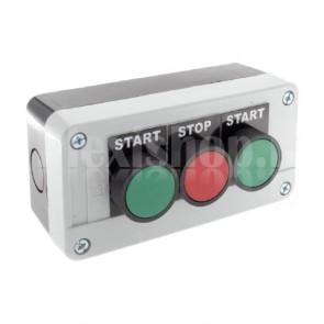 Scatola comando - tre pulsanti FOW, STOP, REV