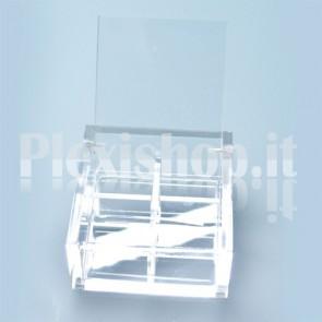Scatola 7x7x3,5 cm con Separatori in Plexiglass