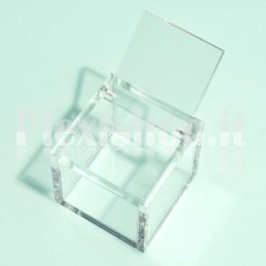 Scatola 10x10x10 cm in Plexiglass