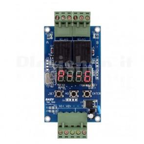 Scheda di controllo e timing programmabile. Due canali, 12V DC