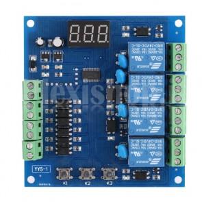Scheda di controllo e timing programmabile a quattro relè, 24 VDC