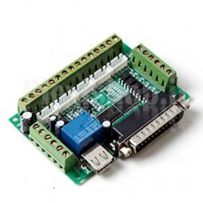 Scheda di interfaccia per 5 stepper controller su porta LPT (CNC)
