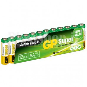 Set 12 Batterie AA Stilo GP Super