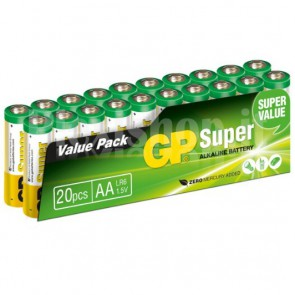 Set 20 Batterie AA Stilo GP Super