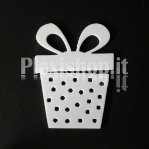 Set Decorazione di Natale in Plexiglass Bianco H100 - Box