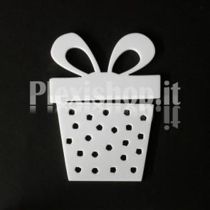 Set Decorazione di Natale in Plexiglass Bianco H100 - Box