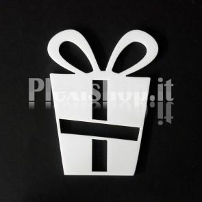 Set Decorazione di Natale in Plexiglass Bianco H80 - Gift