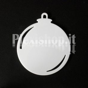 Set Palline di Natale in Plexiglass Bianco H100 - Ball