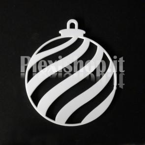 Set Palline di Natale in Plexiglass Bianco H100 - Onda