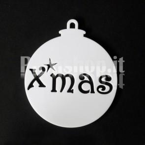 Set Palline di Natale in Plexiglass Bianco H100 - Xmas