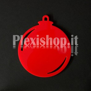 Set Palline di Natale in Plexiglass Rosso H100 - Ball