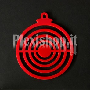 Set Palline di Natale in Plexiglass Rosso H100 - Center