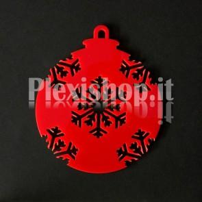 Set Palline di Natale in Plexiglass Rosso