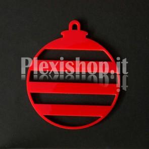 Set Palline di Natale in Plexiglass Rosso H100 - Riga