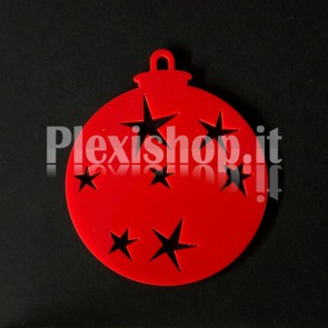Set Palline di Natale in Plexiglass Rosso H100 - Star