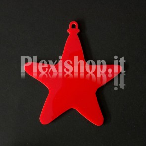 Stelline di Natale in Plexiglass Rosso