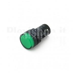 Spia luminosa da pannello Verde AD16-22DS23