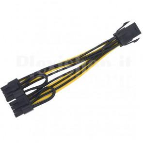 Splitter PCI-e da 6pin a 2x 6+2pin
